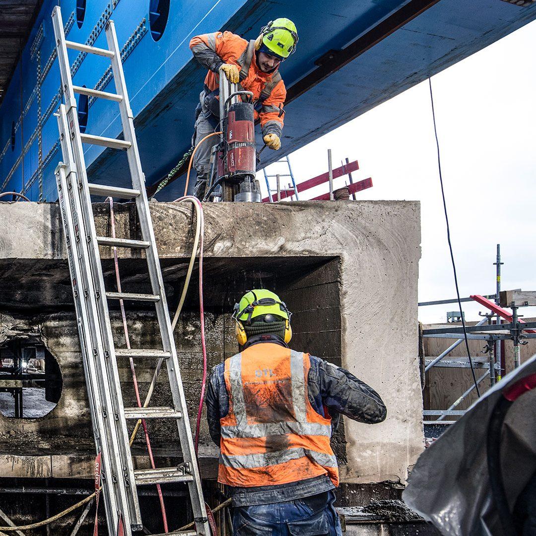 Baustellendokumentation  Neubau einer Autobahnbrücke auf der A1  Kunde: BeMo Tunnelling GmbH